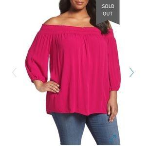 SEJOUR NEW Woman's Off the Shoulder Blouse Plus